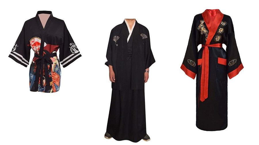 Fancy Pumpkin Trajes de Estilo japon/és de los Hombres de algod/ón Puro Kimono Robe Albornoz Pijamas # 05