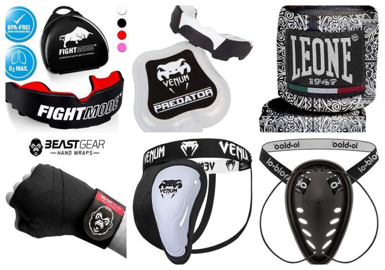 Protección bucal, vendaje y coquillas MMA