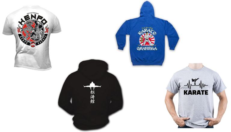 Camisetas y sudaderas de karate