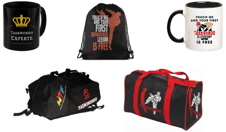 Tazas y mochilas de Taekwondo